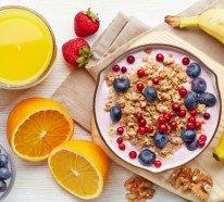 Frühstücken und Tanzen